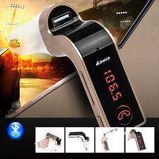Car FM Transmitter Radio Modulator MP3 Player Hands-Free Bluetooth Red LED USB
