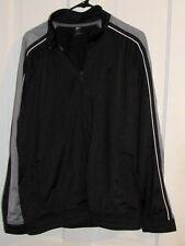 STARTER Mens Large 42/44 Black Gray Zipper Jacket Polyester