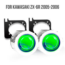LED Devil Angle Eye HID Demon Eye Projector for Kawasaki ZX6R 2005 2006 Green