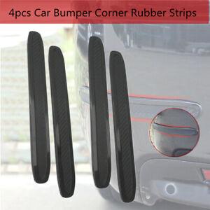 4x Car Truck Bumper Corner Rubber Strip Anti-rub Scratch Protector Guard Trims