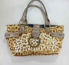 Guess Purse.Animal print & Mother of pearl Satchel Rare Exotic
