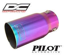"DC Sports Bolt On Chameleon Color Steel Exhaust Muffler Tip 7.5"" x 3.5"" x 2.9"""