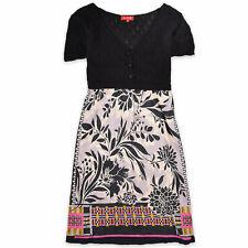 Rene Derhy señora vestido dress talla L (de 40) multicolor 94297