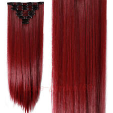 Real Thick Full Head Clip in Hair Extensions Extentions 18Clips on 50Colors ho75