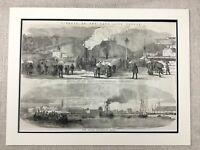 1855 Antico Stampa Lord Raglan Funerale Clifton Cumberland Lavabo Bristol
