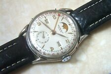 A RECORD WATCH COMPANY MULTI DATE AND MOONPHASE WRISTWATCH c.MID 1950'S