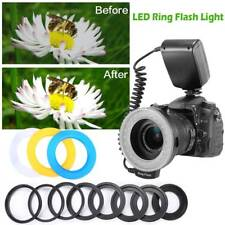 Macro LED Ring Flash Light for Canon Nikon Pentax Olympus Panasonic DSLR