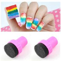 Gradient Sponge Nail Rainbow Starry Nail Sponge Seal Stamp Cotton Manicure Tool