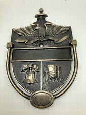 Heritage Door Knocker Plaque Colonial Eagle Liberty Bell Flag