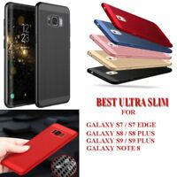 Ultra Slim Hard Back Protective Cover For Samsung Galaxy S7 S8 S9 Plus Note 8