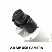 2MP HD USB CMOS Camera Microscope Electronic Digital Eyepiece w/ Adapter Ring