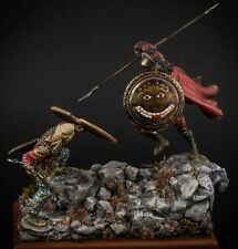 Resin Soldier,museum, Spartan hoplite, Battle of Thermopylae, 300 Spartans, 75mm