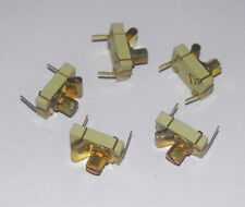 25pF BRASS AND CERAMIC COMPRESSION TRIMMER - FIVE PIECES