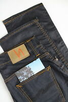 NUDIE JEANS SLIM JIM GLACIER INDIGO Men's W30/L32 Dark Blue Straight Jeans 1082-