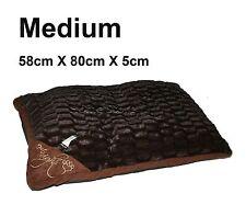 Medium comfy doux lavable chien animaux chat chaud panier lit coussin oreiller c-marron