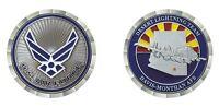 """DAVIS-MONTHAN AIR FORCE BASE TUCSON ARIZONA FLAG  A-10 1.75"""" CHALLENGE COIN"""