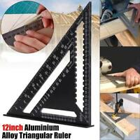 """7/12"""" Triangle Ruler Guide Speed Square Quick Roofing Rafter Woodworking Tool"""