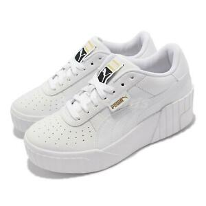 Puma Cali Wedge Wns White Gold Women Platform Casual Lifestyle Shoes 373438-01
