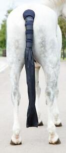 Shires Arma Padded Horse Tail Guard With Bag in Navy one size