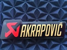 AKRAPOVIC 3D Exhaust Heat Proof Resistant Aluminium Sticker Decal Motorcycle