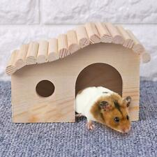 Small Animal Wooden Sleeping Nest Hamster Hedgehog House Bed Dodge Assembly #VIC