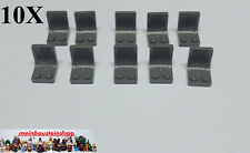10x lego ® 4079, silla, sede, Chair, seat, 2x2 nuevo gris oscuro Dark Gray 4524930