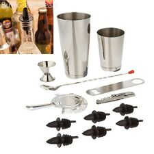 Professional Bartender Kit Set Bar Shaker Cocktail Tools Stainless Steel 13 Pcs