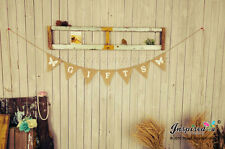Hessian Gifts Flag Bunting Butterflies White Burlap Wedding Decorations
