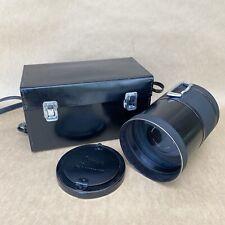 Spiratone Mirror-Ultratel 500mm 1:4 Lens - CANON FD MOUNT - W/ Case - VINTAGE