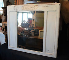 Specchiera intagliata in stile, laccata Shabby Chic, primi '900 - 85 x75