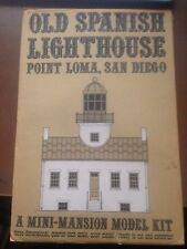 Old Spanish Lighthouse Point Loma, San Diego: A Mini-Mansion Model Kit (1969)