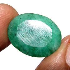 17.50Ct  Natural Awesome Oval Cut Gemstone Brazilian Emerald / Panna Gem-CH 6127