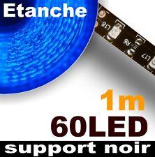 807BK/1# Ruban LED Bleu étanche 60LED 1m -- support Noir