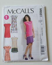 NEW McCalls pattern M6551 4 Easy Misses' Summer Dresses w/belt Size Xsm-Sm-Med
