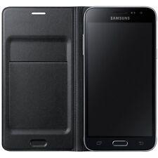 Samsung flip cover funda EF-WJ 320 pbegww negra para Samsung Galaxy j3