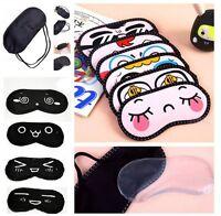 Cute Sleeping Eye Mask Cover Blinder Travel Sleep Aid Rest Shade Blindfold  1X'
