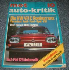 MOT 10/70 Simca 1000 Rally, VW 411, Ford P7b, Audi 100, Opel Rekoed C, Fiat 125