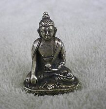 "Shakyamuni Buddha Statue for Dharma in Nepal, Tibet 2 1/8"" High Metal Alloy"