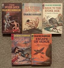Edgar Rice Burroughs Ace Science Fiction Classic Vintage Paperbacks Lot Of 5 Pbs