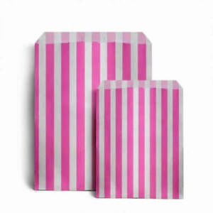 Candy Stripe Paper Bags Gift Shop Party Buffet Wedding Cake Sweet Treat Pick&Mix