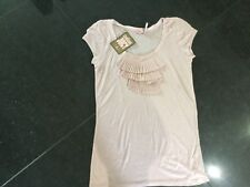 NWT Juicy Couture New & Genuine Ladies Size Small 8/10 Pink Soft Cotton T-Shirt