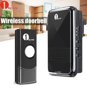 1byone Wireless Plug Doorbell Ring Door Bell Waterproof Home Chime Kits Lighted