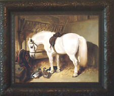 Herring Arabian Horse Pony Print Antique Style Framed 11X13 duck sh fy py