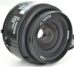 Nikon AF Nikkor 24mm f/2.8 Wide Angle Lens Excellent No. 251522