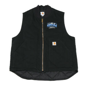 CARHARTT Quilt Lined Vest | Large | Workwear Canvas Duck Jacket Gilet Padded