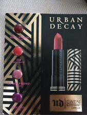 Urban Decay Gwen Stefani Lipstick 4 Samples Rock Steady Ex-Girlfriend Firebird