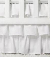 Crib Skirt Ruffle - Cloud Island153 White
