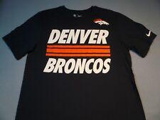 Nike Denver Broncos Team Stripe Navy T-shirt - X-large