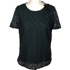 BCBG Maxazria Cacey Lace Top Size Large Women's Ladies In Dark Green