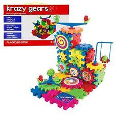 Gear Building Toy Set - Interlocking Learning Blocks - Motorized Spinning Gears